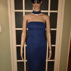 Blue choker detail  dress, Another Story XS